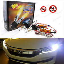 Plug&Play Switchback Front DRL Parking Signal LED + Resistor For Accord Civic