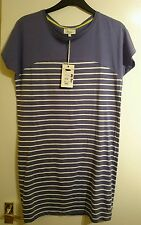 House of fraser linea blue and white striped size 10 dress / t shirt BNWT
