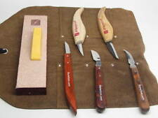 Flexcut Bench Hook Round Neck Chip Woodcarving Knives Strop Tool Roll