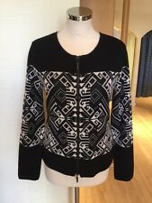Faber Cardigan Size 18 BNWT Black Cream RRP £137 Now £49