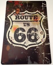 Retro De Pared De Metal signo Tin Placa Vintage Shabby Chic Garage Route 66 Usa coche nos