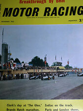 BRM FEATURE BOURNE 1962 US UNITED STATES GP WATKINS GLEN JIM CLARK LOTUS 25