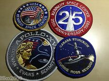 NASA SPACE PATCHES- PACKOF 4, GREAT PRICE! KENNEDY SPACE CENTER, APOLLO 17 etc.