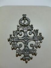 RARE HARD TO FIND CINI STERLING SILVER NECKLACE CROSS RELIGIOUS PENDANT BIG!!!