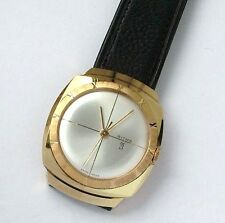 ideal gift amazing Ritma gold plated 21 jewels Swiss made watch by Ritma