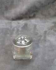 Vintage Sterling Silver Pill or Snuff Box with Large Raised Flower  Heavy 1.5 oz