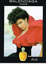 PUBLICITE ADVERTISING 104  1991  BALENCIAGA  parfum femme RUMBA