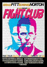 Fight Club Brad Pitt Movie Poster Print A4 260gsm