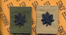 US ARMY Lieutenant Colonel LTC OD Green & Desert Reversable slip on rank patch