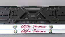 2 porte plaque d'immatriculation Alfa Romeo 147,156,159,166,brera,mito,gt,spider