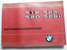 Betriebsanleitung - BMW E12 - 518, 520, 525, 528i, 7.1977, 152 Seiten