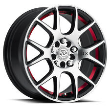 4-Drag Concepts R-19 15x6.5 5x100/5x114.3 +38mm Black/Machined/Red Wheels Rims