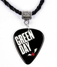 Green Day American Idiot Necklace Guitar Pick Plectrum Black Twist Cord