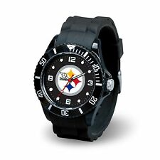 Pittsburgh Steelers NFL Football Team Men's Black Sparo Spirit Watch
