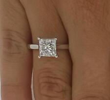 2 ct VS1 Princess Cut Diamond Solitaire Engagement Ring White Gold 18k 263223