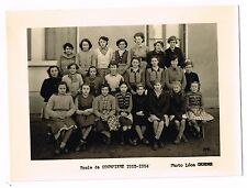 ANCIENNE PHOTO ECOLE DE COURPIERE 1953 / 1954