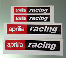 Set of 4 Aprilia Racing decal / stickers (2 Large & 2 Medium)