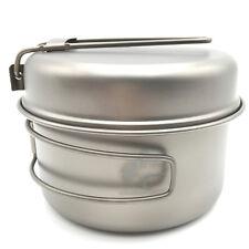 Titanium Pot Set Outdoor Cookware Camping Folding Pot with Pan Ti1515B