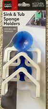 3 X Kitchen Gadget Sponge Holder Suction Cup Sink Tub Cloth Dish Storage Rack