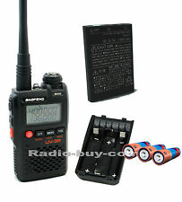Baofeng UV-3R+ (Dual Band 136-174/400-470MHz) + Battery Case + 3pcs AA battery