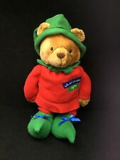"Santas Workshop Elf #25 Bear Brown Red Green Treat Pouch Hallmark Plush 16"" Toy"