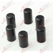"6 X 4mm 5/32"" Silicone Blanking Cap Intake Vacuum Hose End Silicon Caps black"