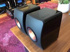 PAIR KEF LS50 SPEAKER -PIANO BLACK- 1 OWNER IN NEAR MINT CONDITION-