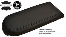 BLACK STITCH REAL LEATHER ARMREST LID COVER FOR VW GOLF MK4 JETTA GTI 1998-2005