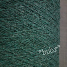 PURE SHETLAND WOOL MARLIN GREEN 500g CONE 10 BALL 3 4 PLY KNITTING WEAVING YARN