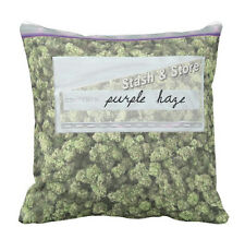 """Baggie of Cannabis Weed Design Sofa Decor Soft Knit Pillow CASE 14.25""""x14.25"""""""