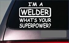 "Welder Superpower Sticker *G456* 8"" Vinyl Decal welding metal iron mask"