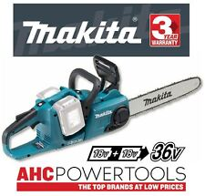 Makita DUC353Z 36V (Twin 18V) Sin cable Sin escobillas Motosierra 350mm-Solo Cuerpo