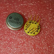 2 psc DS0026CG Vintage Transistor Two Phase Mos Clock Driver Gold Plated