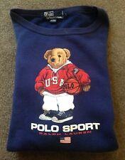 Men's Vintage Polo Sport Ralph Lauren Polo Bear Crewneck Sweater Size Large EUC
