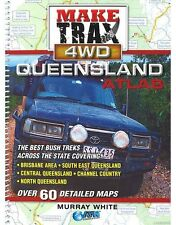 NEW Make Trax 4WD Queensland Atlas By Murray White Spiral Ringed Book