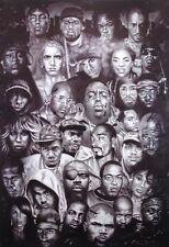 Rap Gods Poster! Hip Hop Artist Nas Snoop Biggie Slick Rick Dorm décor Man Cave