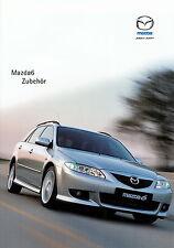 Prospekt Mazda 6 Zubehör 1.6.02 2002 brochure broschyr Auto Pkw Japan Asien
