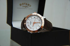 NEW Rotary Rose Gold plated Swiss Watch Mens Light weight Watch RRP £160 Boxed