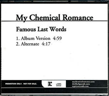 My Chemical Romance Famous Last Words RARE promo CD single w/ alternate '06