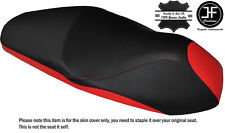 DESIGN 2 BLACK RED CUSTOM FITS HONDA PCX 125 150 14-16 LEATHER SEAT COVER