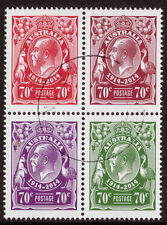 AUSTRALIA 2014 GEORGE V CENTENARY OF STAMPS BLOCK OF 4 FINE USED