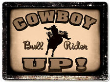 COWBOY METAL SIGN bull rider horse boots VINTAGE style gift wall decor art 307