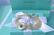 "AUTHENTIC Tiffany & Co. Ring Mesh Multistrand Bracelet 7.25"" (#951)"