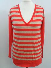 Victoria's Secret Orange stripe V Neck Jumper Small BOX7292 A