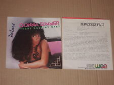 """DONNA SUMMER -There Goes My Baby- 7"""" mit Product Facts Promo-Flyer"""