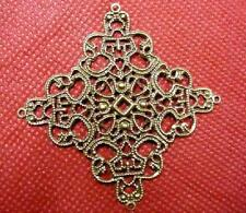 8pc antique bronze metal filigree center piece/wraps-2888