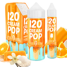 120 CREAM POP BY MAD HATTER 120ML 3MG ICE E LIQUID SHISHA VAPE JUICE E-LIQUID E-