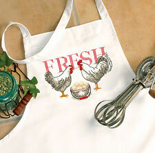 "Cross Stitch Kit ~ Dimensions Rooster & Eggs ""Fresh"" APRON #72-73885"