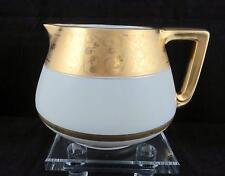 """PICKARD ANTIQUE FLORAL GOLD BAND 5 1/2"""" CIDER LEMONADE PITCHER 1913-1916"""