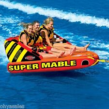 Sportstuff Super Mable 3 Rider Inflatable Towable Boating Water Tube - 53-2223